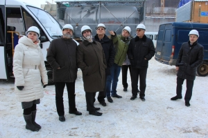 IAEA experts on the Belarusian nuclear power plant. January 2017