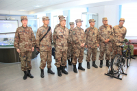 Chinese border guards visit the NPP information center